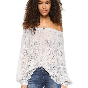 Free people lights will shine open knit sweater